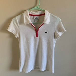 NWOT Small White Lacoste Top